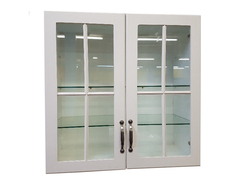 WALL MOUNTED KITCHEN CABINET WITH COTTAGE PANE DOORS