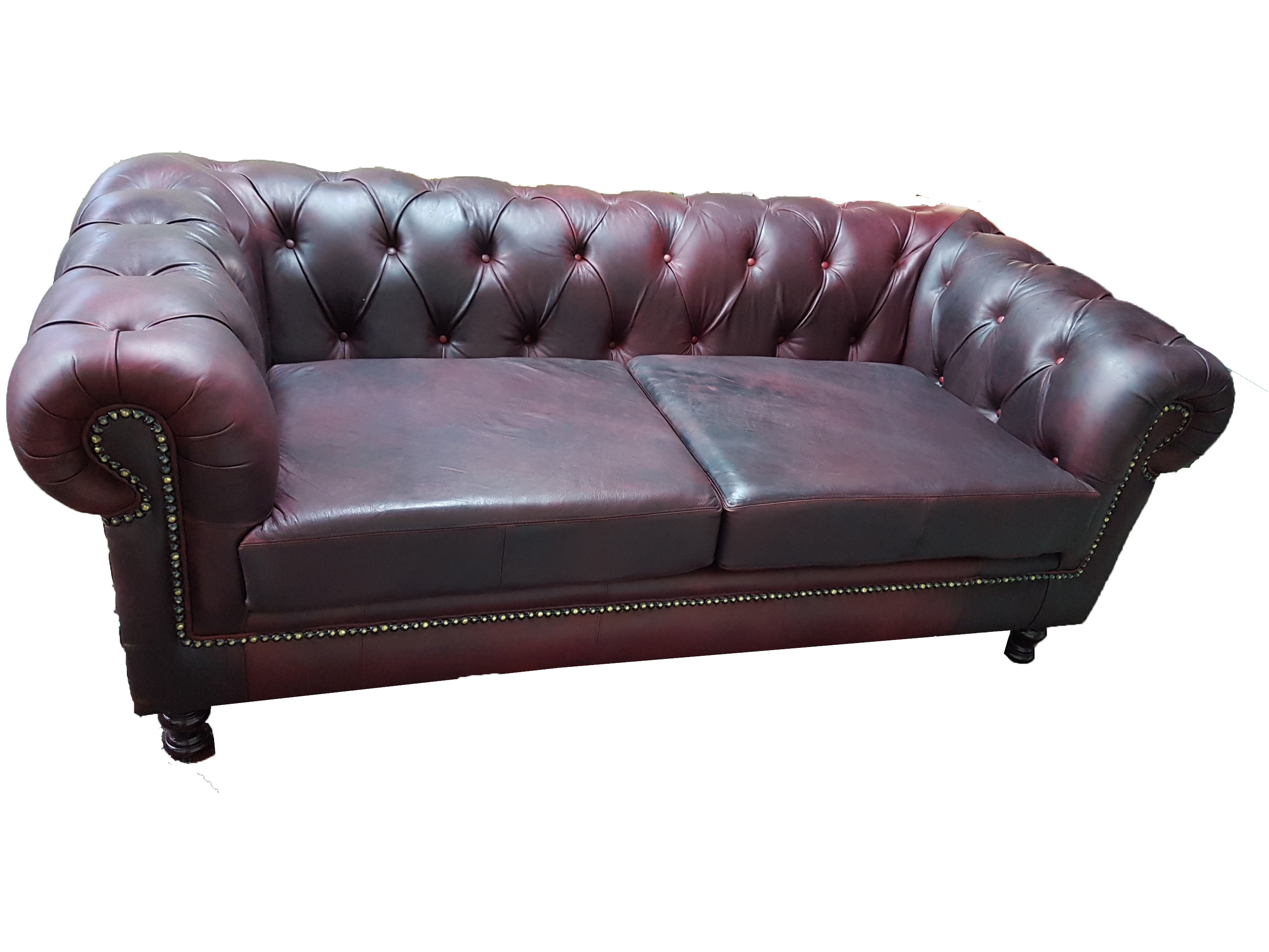 Utterly Fabulous Antique Red Leather Chesterfield Couches Big Bucks